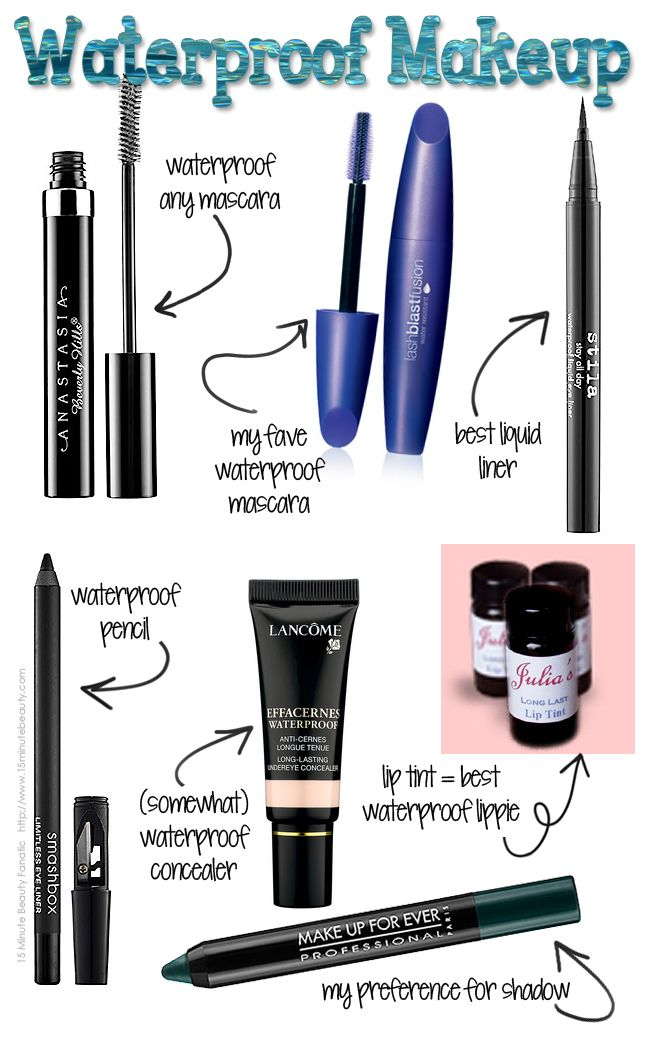 My Favorite Waterproof Makeup for Summer via @15 Minute Beauty