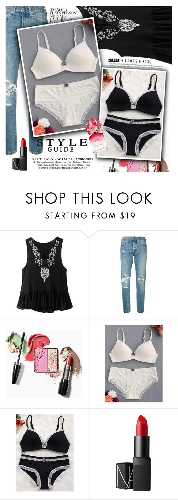 """Casual friday"" by vanjazivadinovic ❤ liked on Polyvore featuring Levi's, NARS Cosmetics, Marc Jacobs, polyvoreeditorial and zaful"