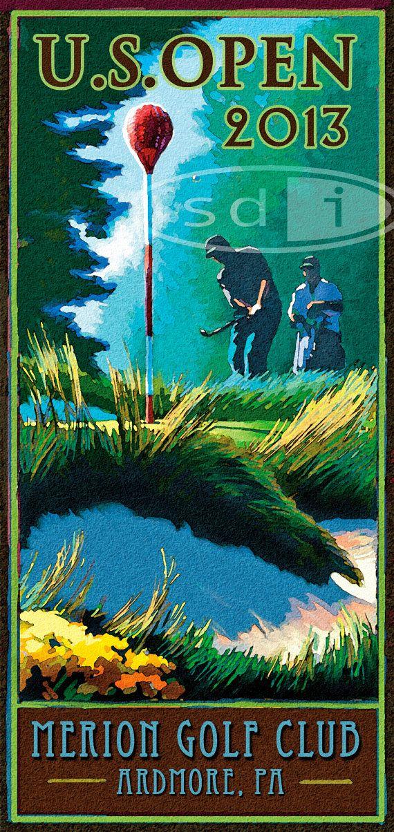 U.S.Open at Merion 2013 golf gift sports by ScottDawsonArtPrints