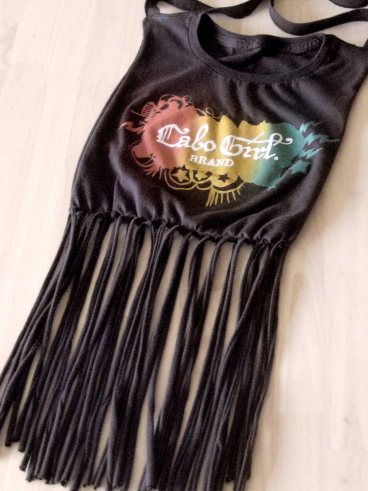 Cabo Girl fringe Tshirt purse handbag Rasta by KittyLovesLou, $24.00