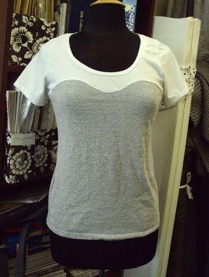 bustier line t-shirt tutorial