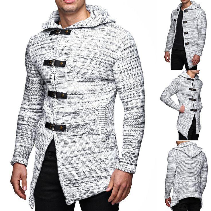 Cardigan Herren Strick Strickjacke Tazzio Sweatshirt Sweat Pullover Jacke Kapuze