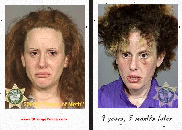 Drugs to Mugs: Shocking before and after images put together by the Multnomah County Sheriff's Office in the US state of Oregon show the…