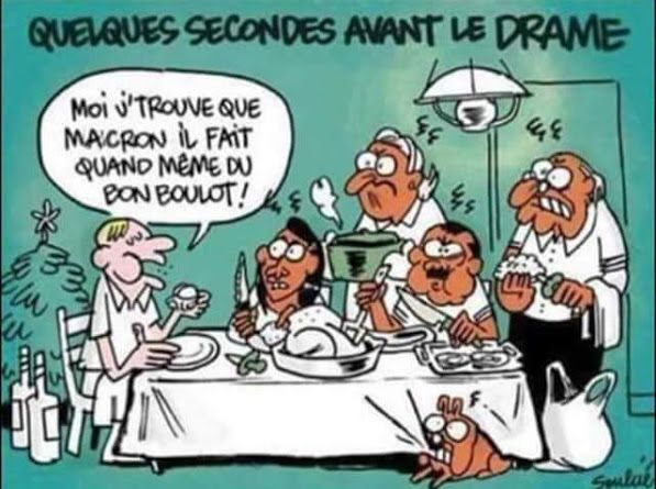 Repas De Noel En France 2018 En Famille Quelques Secondes Avant Le