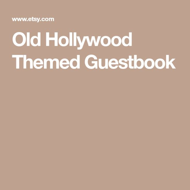 Old Hollywood Themed Guestbook