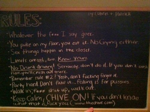 House Party Rules