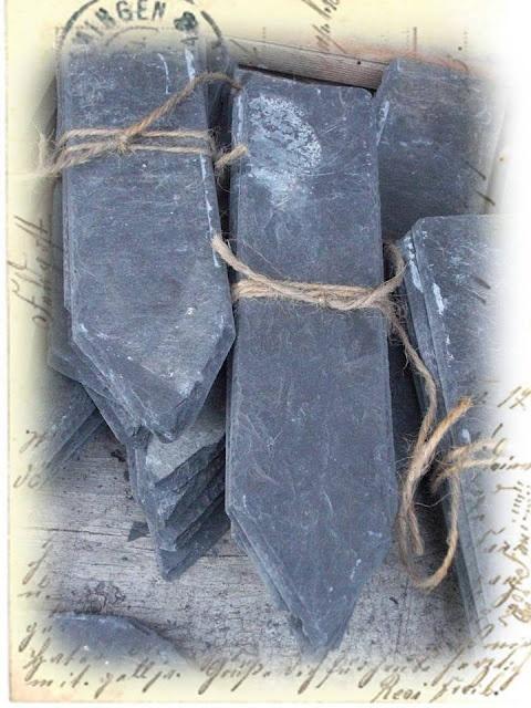 Beetstecker aus alten Schieferplatten