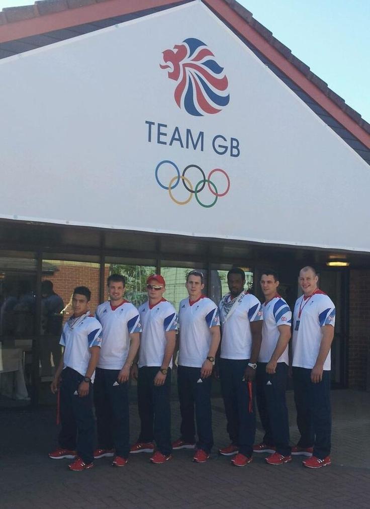GB Judo Team - Marine Chris Sherrington (Far right)