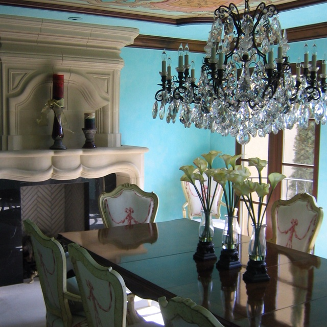 I Have Always Loved This Tiffany Blue Colored Candelaria Design Dining Room
