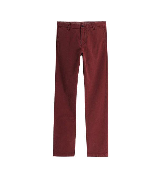 DOCKERS : Pantalon chino slim tapered - Bordeaux