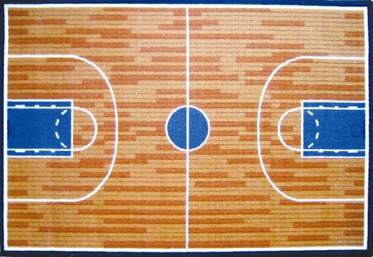 Fun time basketball court sports area rug sports rugs for Cheapest way to make a basketball court