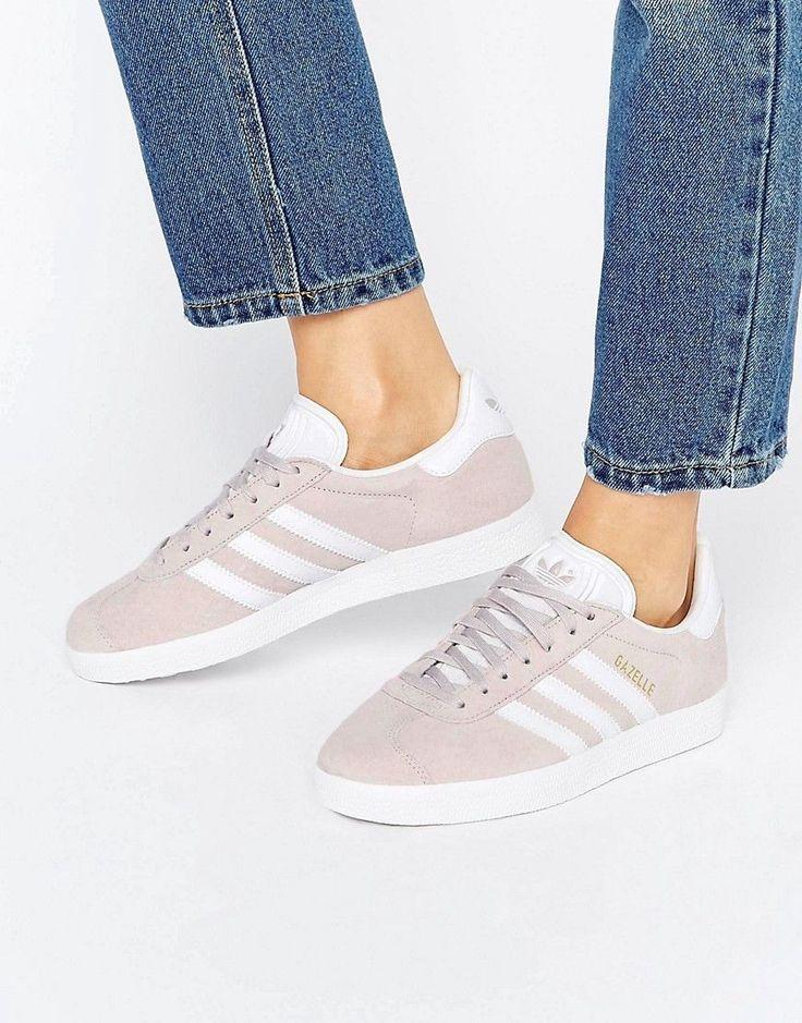 adidas originals ice purple suede gazelle sneakers