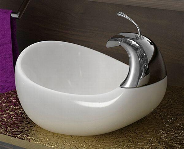 compact bathroom sink photo - 1