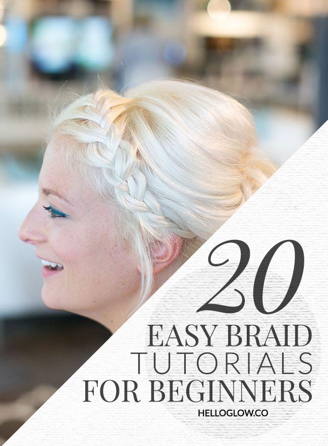 20 Easy Braid Tutorials for Beginners | HelloGlow.co