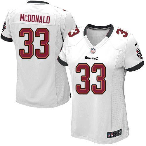 Women Nike Tampa Bay Buccaneers #33 Brandon McDonald Limited White NFL Jersey Sale
