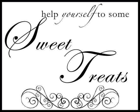 Sweet Treats  8x10 printable sign by GoToGirlSignDesigns on Etsy, $12.00