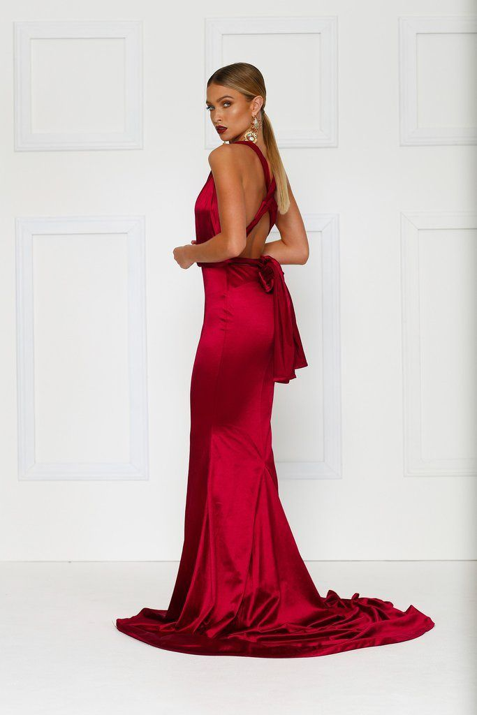 Lena - Wine Red - Brides Selection