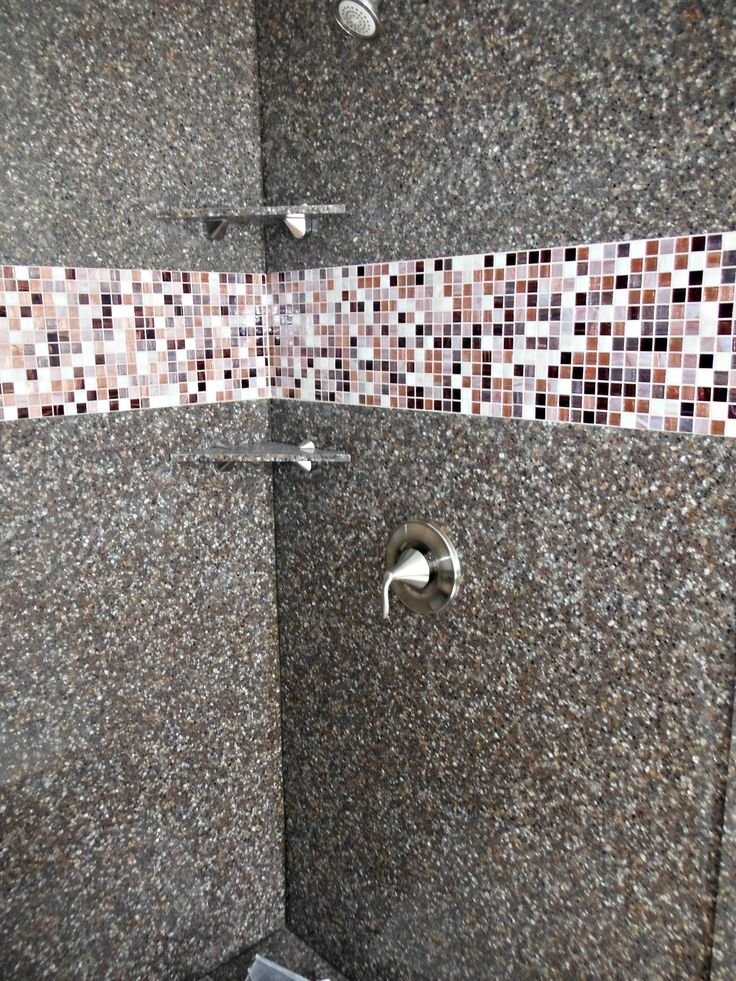 Recent Shower Remodel Job We Completed In Central Nc This Project Features Our Exclusive Granite As Well Trend Mosaic Tile