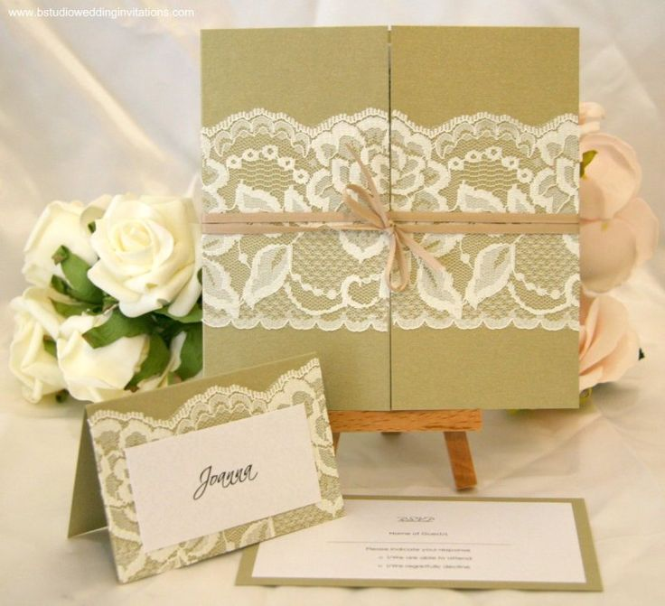 funny personal wedding card matter%0A Gold  u     Lace Invitations and name tag idea