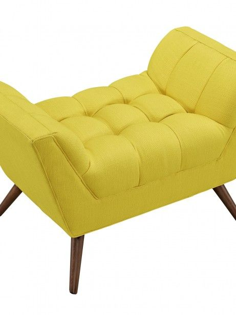 Hued Ottoman | Yellow | Modern Furniture • Brickell Collection