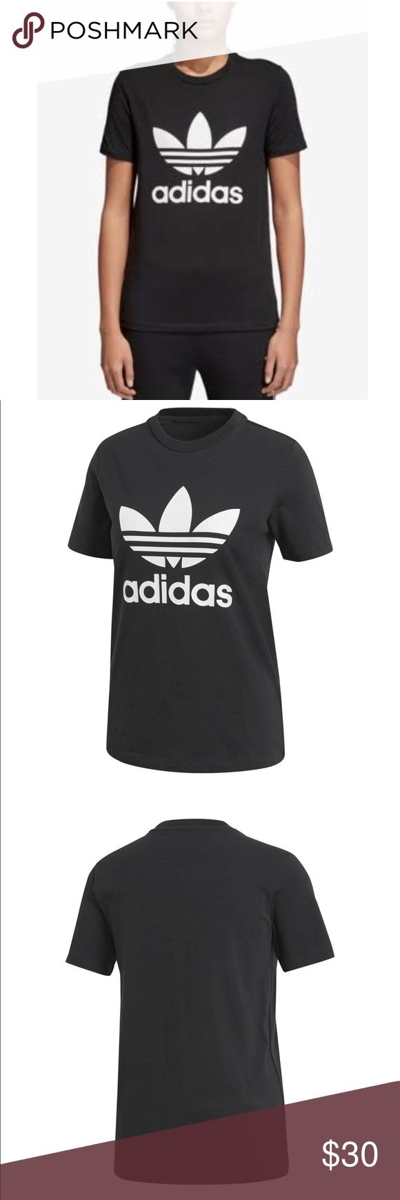 Adidas Originals adicolor Cotton Go-to Tee - M This women's cotton t-shirt features cap sleeves and a u-shaped neckline for a flattering finish. A large rubber-print trefoil logo upfront says adidas originals loud and proud. adidas Tops Tees - Short Sleeve