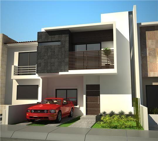 M s de 1000 ideas sobre fachadas de bardas en pinterest for Design moderno casa contemporanea con planimetria