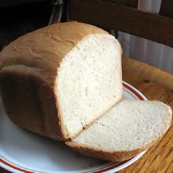 Non-dairy White Bread For The Bread Machine.  Use only 1 1/2 Tbsp of yeast or it will collapse.