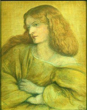 Woman in Yellow (1863) D G Rossetti
