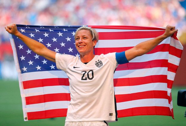 Despite the fact that Abby Wambach leads both men and women as the top international scorer (183 goals in 274 games, nbd), the Rochester, New York native had not won a FIFA Women's World Cup. Until today. | Abby Wambach Running To Her Wife After The World Cup Will Destroy Your Tear Ducts