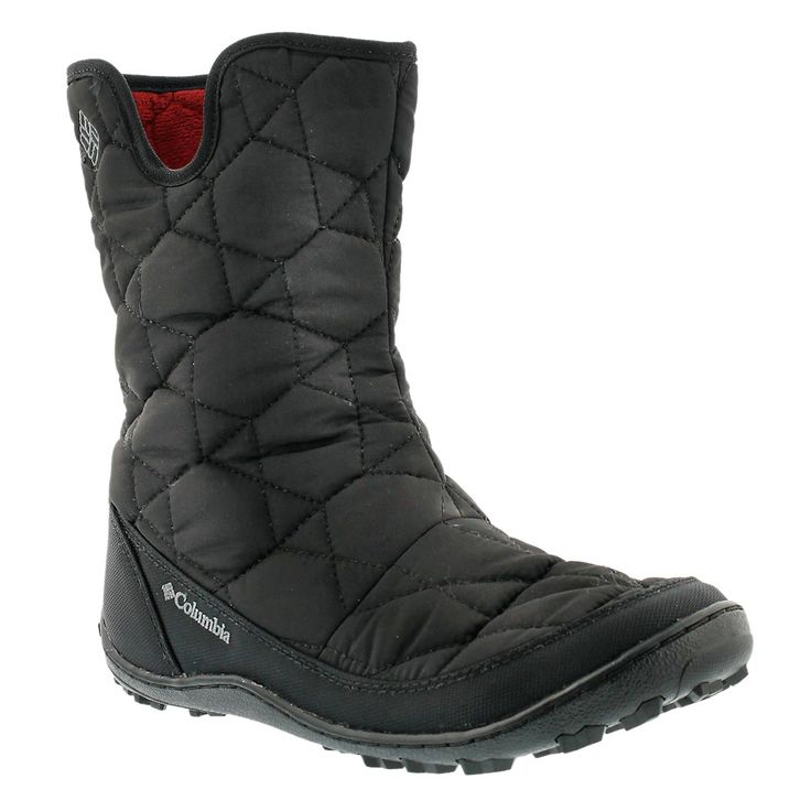 Columbia Women's MINX SLIP II black pull on winter boots 1567081-010
