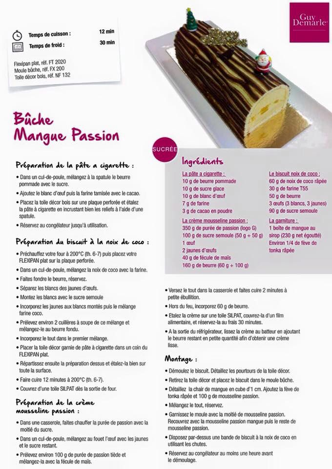 Bûche mangue passion