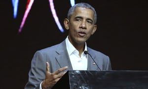 Barack Obama urges world to stand against 'aggressive nationalism' | US news | The Guardian