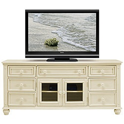 Perfect TV stand for a beachy living space