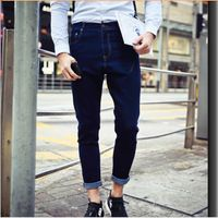Comfortable explosion models selling men's jeans 2015 spring new European style fashion trend micro cone washed jeans for men