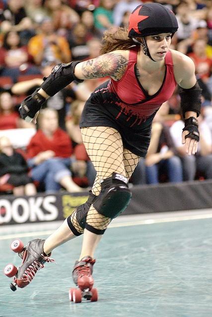 Georgia O'Grief. Photo by Justin Blau by Rat City Rollergirls, via Flickr
