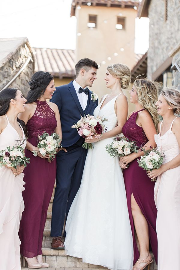 Romantic Burgundy Blush Wedding Ideas | Colors for the ...