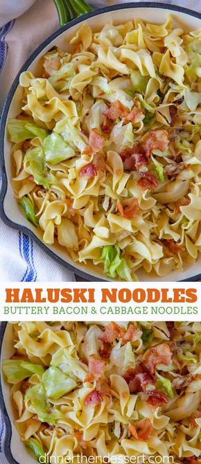 Haluski Noodles are the PERFECT one pot comfort food, made from noodles, cabbage…