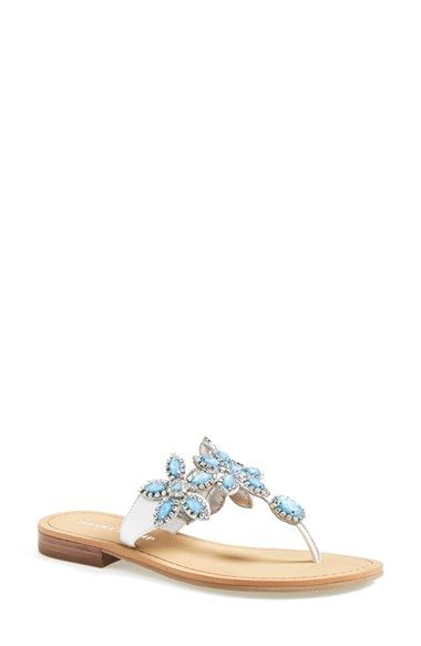 a27b0f6378f09a ... Ivanka Trump Paira Crystal Embellished Leather Sandal (Women)  (Nordstrom Exclusive) promo code ...
