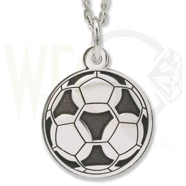 Wisiorek srebrny piłka nożna. / 60 PLN/  Silver pendant football.