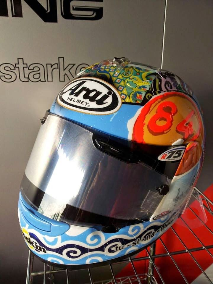 Arai RX-GP R.Russo Misano 2014 by CF Design | HELMETS !!!! | Pinterest