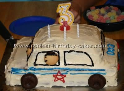 Police car cake that I am going to attempt to make for Nathan's 4th birthday