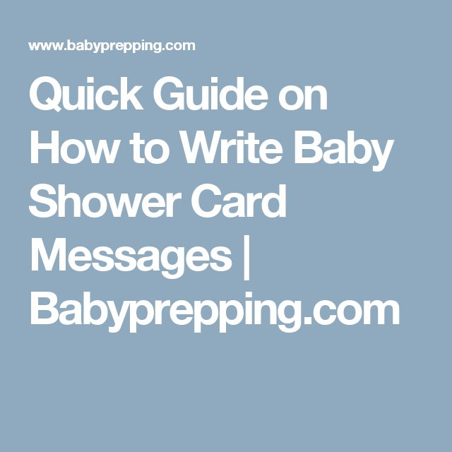 Quick Guide on How to Write Baby Shower Card Messages | Babyprepping.com