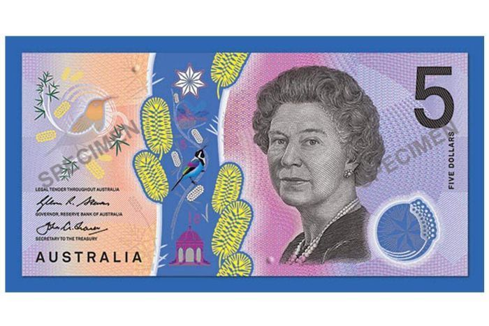The new colourful Australian 45 note