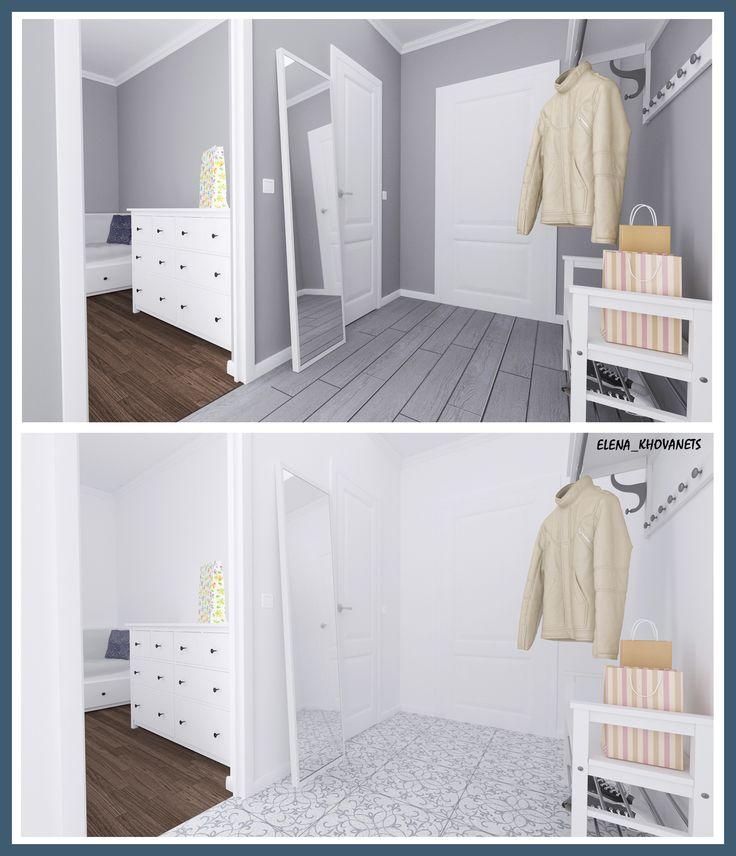 Пример как можно ненавязчиво и со вкусом обставить прихожую с помощью мебели ИКЕА #интерьердизайна #интерьер #дизайн #3dmax #vray #interiordesign #interior #design #keramamarazzi #дизайнинтерьера #дизайнквартиры #дизайнпроект #home #IKEA