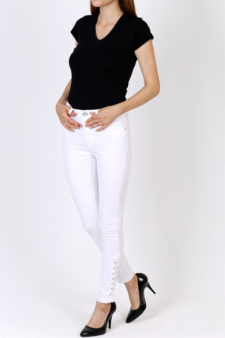 Bilek Bağlı, Beyaz Pantolon 2014B
