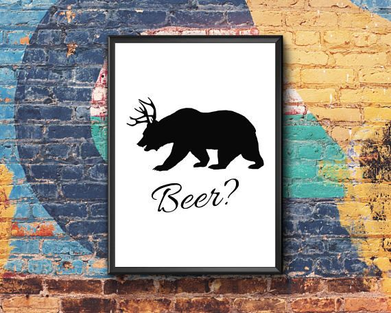 Beer Print  Man Cave Stuff  Beer Drinker  Bar Quote Posters