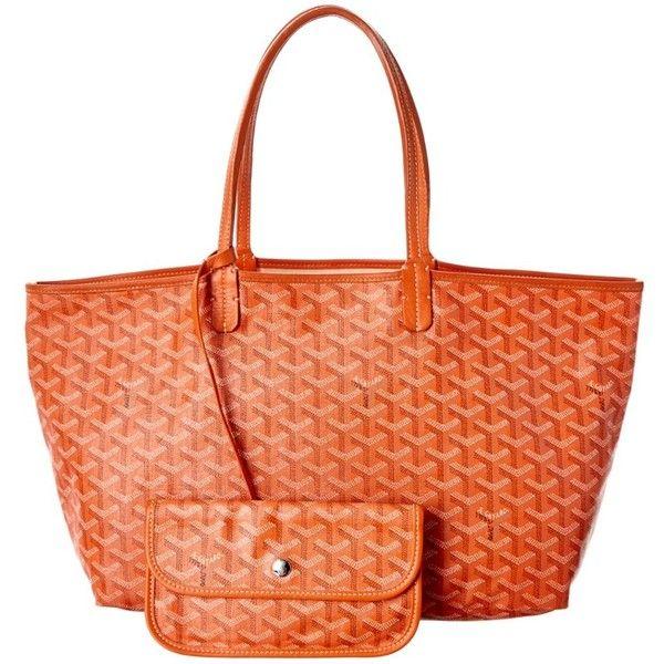Goyard Goyard Orange Goyardine Canvas Saint Louis Pm (404948201) (£1,370) ❤ liked on Polyvore featuring bags, handbags, orange, long handle purses, man bag, canvas man bag, red hand bags and goyard handbags