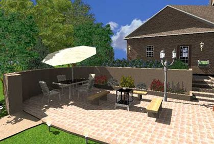 Patio design software tools with 3D photos of best makeovers and floor layouts.