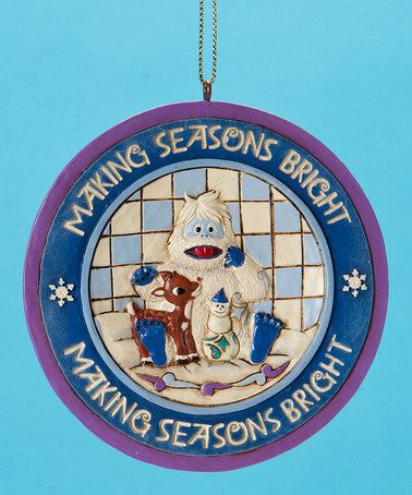 Take a look at this Rudolph & Bumble Ornament by Jim Shore on #zulily today!