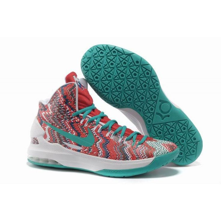 Nike Zoom KD 5 iD Offers New Graphic Pattern White Court Purple 554988 016 Sale  Online